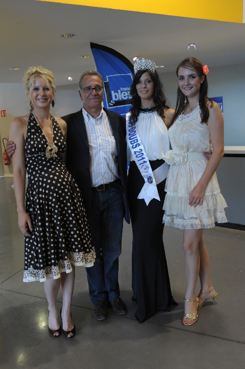 Miss DOUBS 2001, Denis GEROME, Miss DOUBS 2011 et Anne-LAure VOUILLOT
