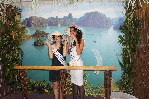 Flora COQUEREL : Miss FRANCE 2014 et Camille DUBAN